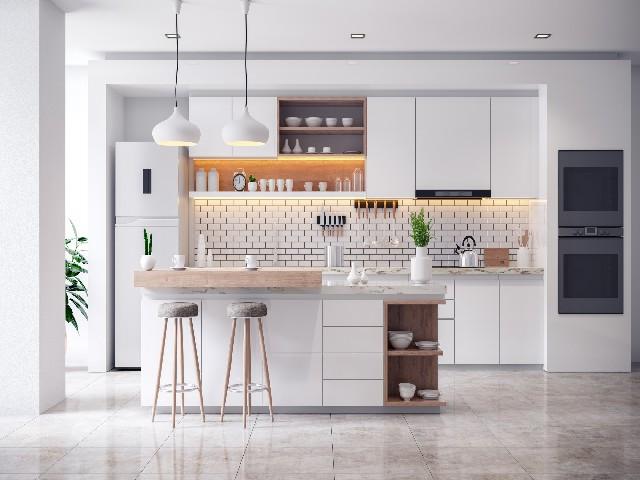 Armário Planejado De Cozinha Minimalista1