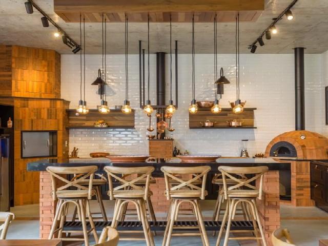 Armário Planejado De Cozinha Rústica1
