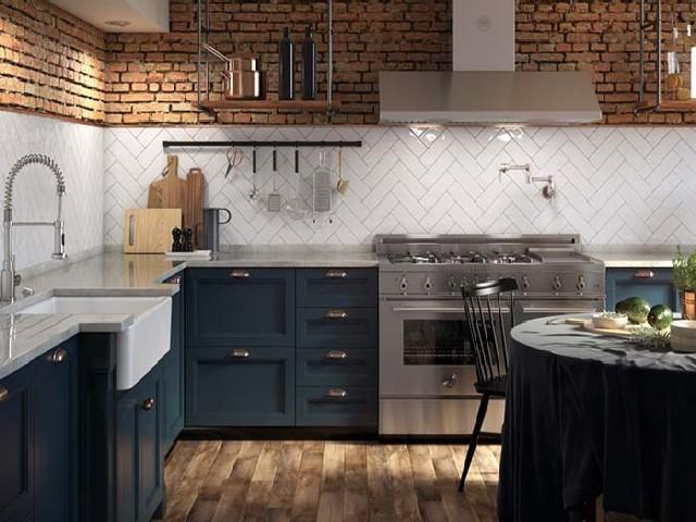 Armário Planejado De Cozinha Rústica2