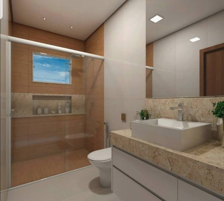 Banheiro Decorado Bege2