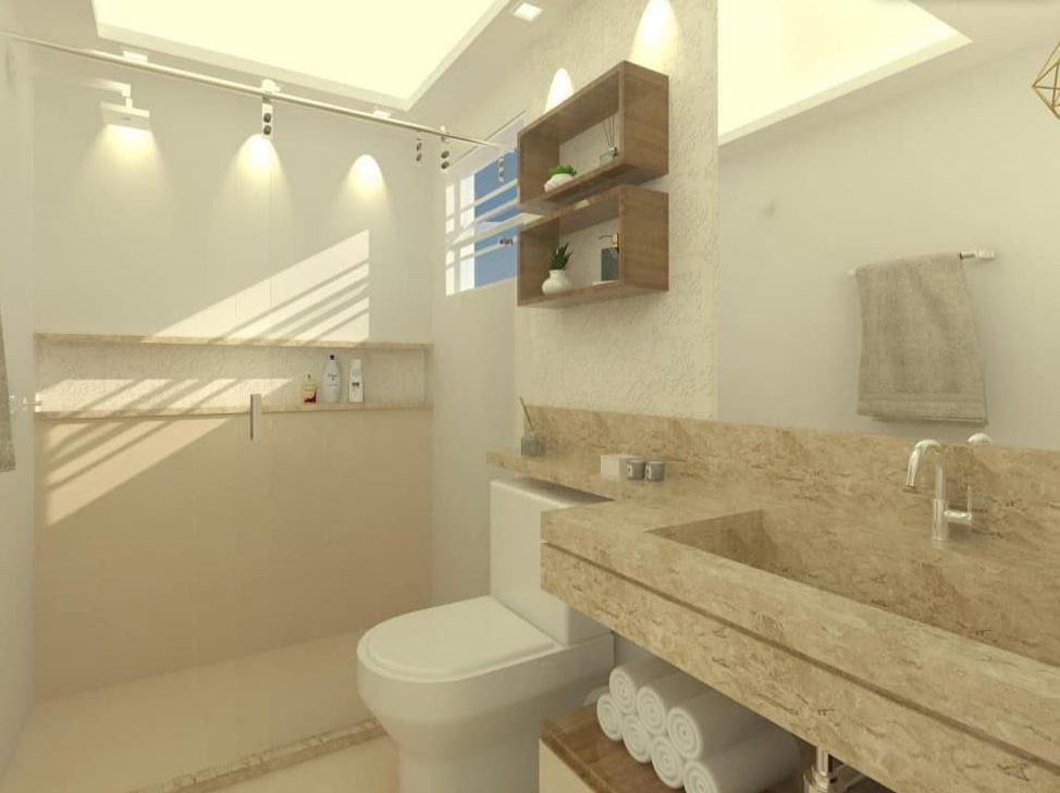 Banheiro Decorado Bege3
