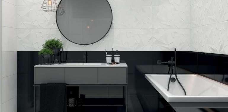 Banheiro Preto e Branco – 43 FOTOS INCRÍVEIS!