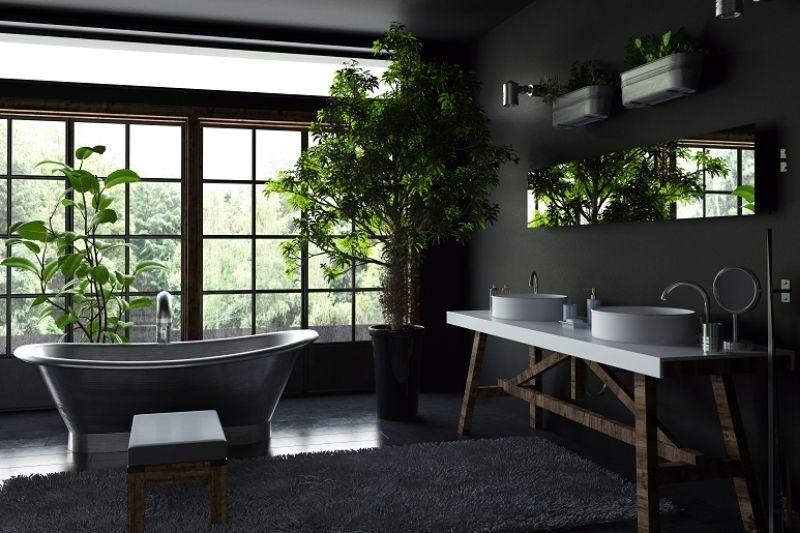 Banheiro Preto E Branco (10)