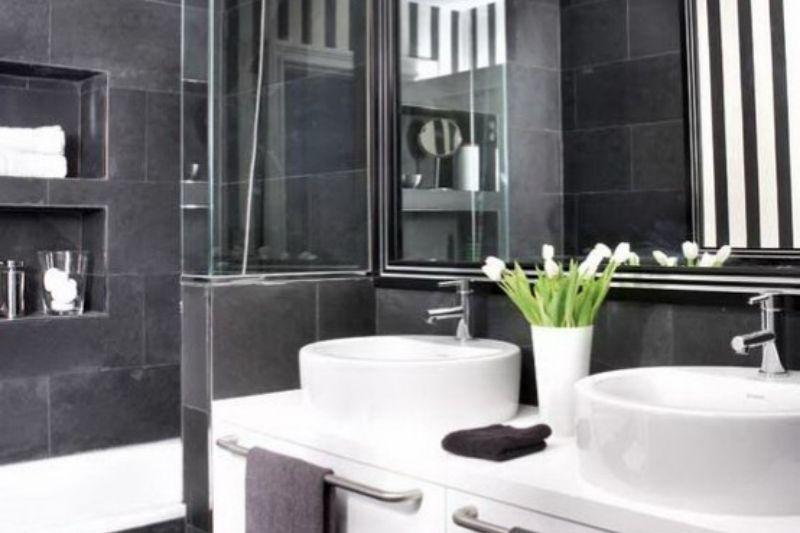 Banheiro Preto E Branco (14)
