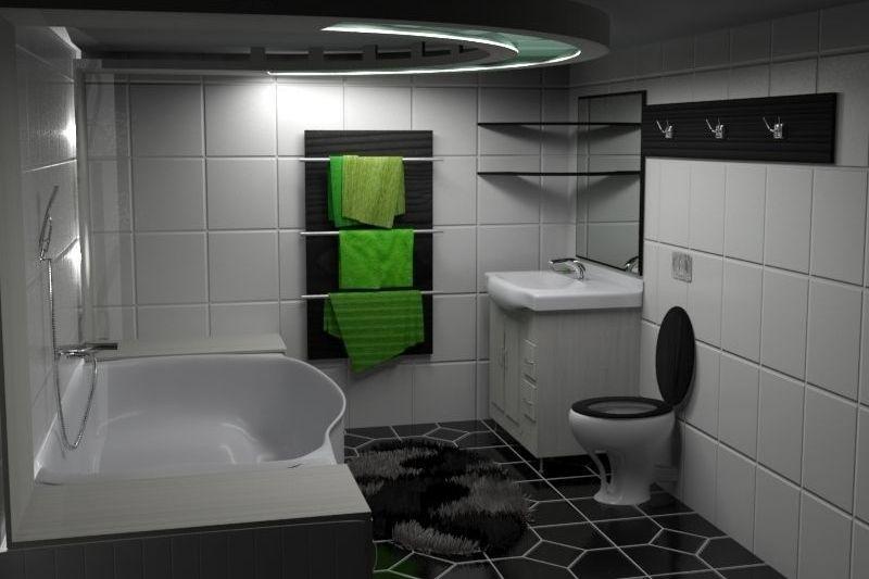 Banheiro Preto E Branco (3)