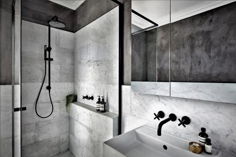 Banheiro Preto E Branco (5)