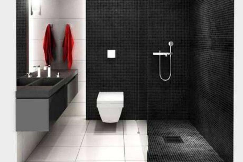 Banheiro Preto E Branco (9)