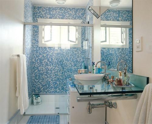 Banheiros Com Pastilhas No Box5
