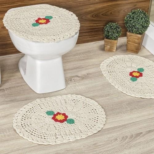 crochê no banheiro com flores5