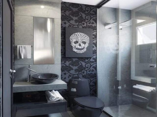 Decoração De Banheiro Simples P&B1