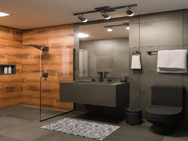 Decoração De Banheiro Simples P&B3