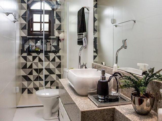 Decoração De Banheiro Simples P&B4