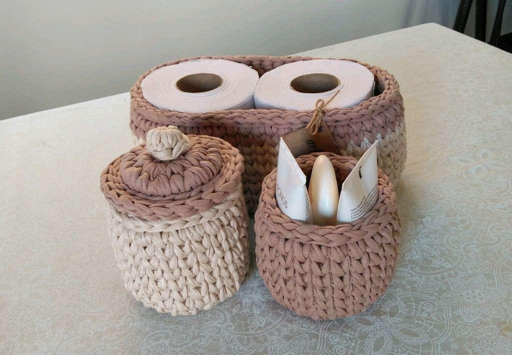 fotos e ideias de jogos de banheiros feitos em crochÊ1