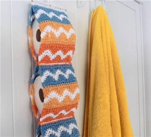 fotos e ideias de jogos de banheiros feitos em crochÊ10