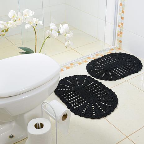 fotos e ideias de jogos de banheiros feitos em crochÊ16