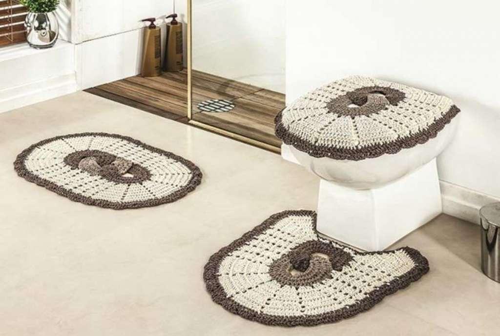 fotos e ideias de jogos de banheiros feitos em crochÊ23