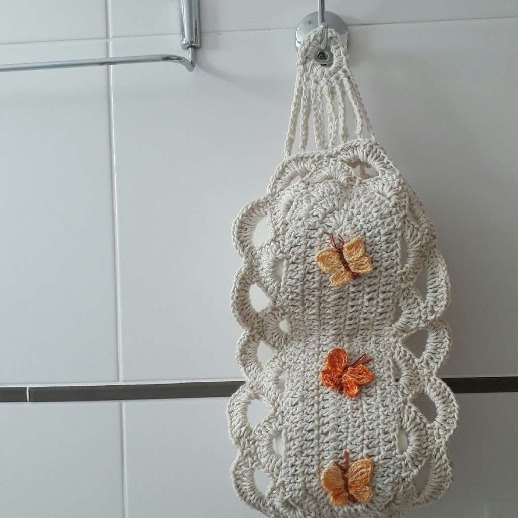 fotos e ideias de jogos de banheiros feitos em crochÊ5
