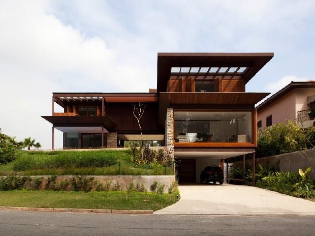 Fachadas De Casas Modernas De Madeira2