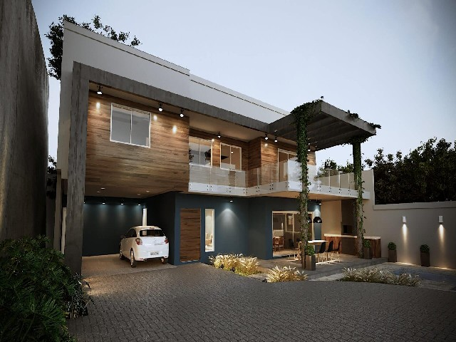 Fachadas De Casas Modernas De Madeira4