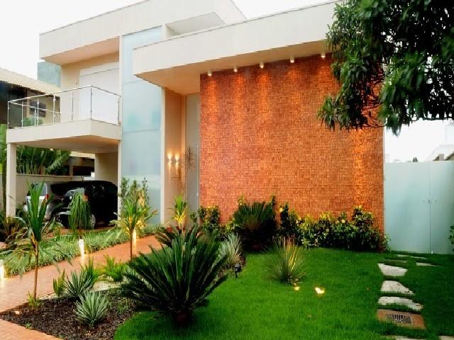 Fachadas De Casas Modernas De Pedra Ou Tijolo4