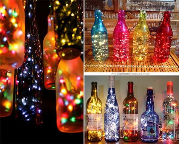 Garrafas Decoradas De Vidro Para O Natal3