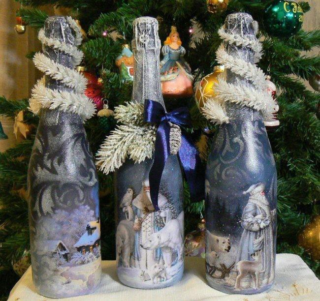 Garrafas Decoradas Para O Natal FOTOS16