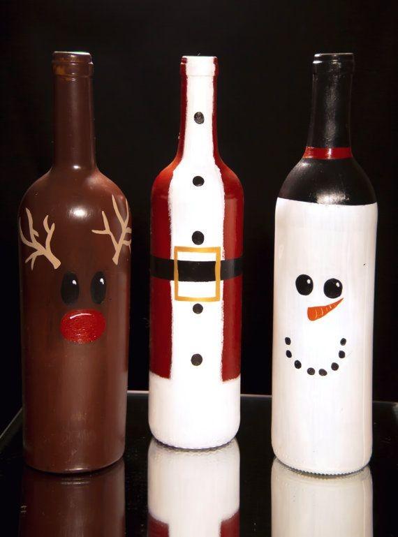 Garrafas Decoradas Para O Natal FOTOS3