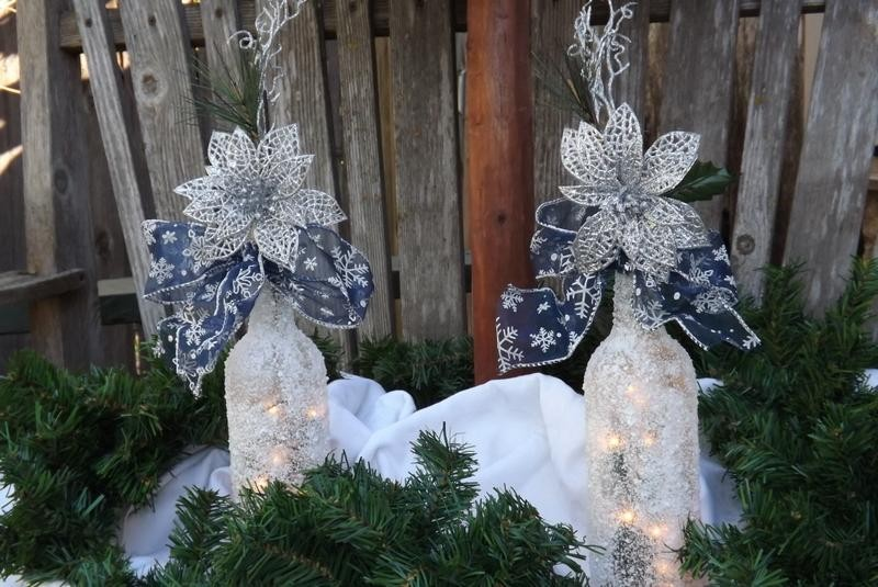 Garrafas Decoradas Para O Natal FOTOS5