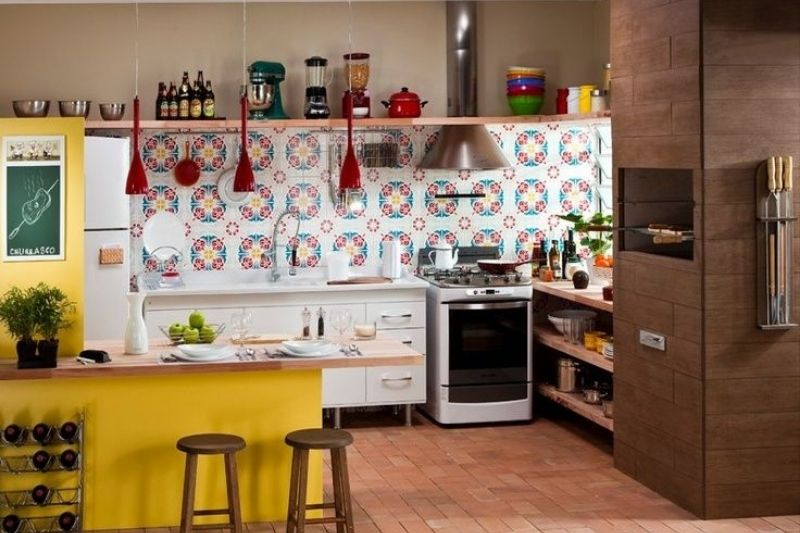Cozinhs Rústicas Coloridas (4)