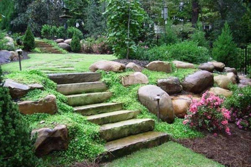 Escadarias Em Jardins Com Pedras (3)