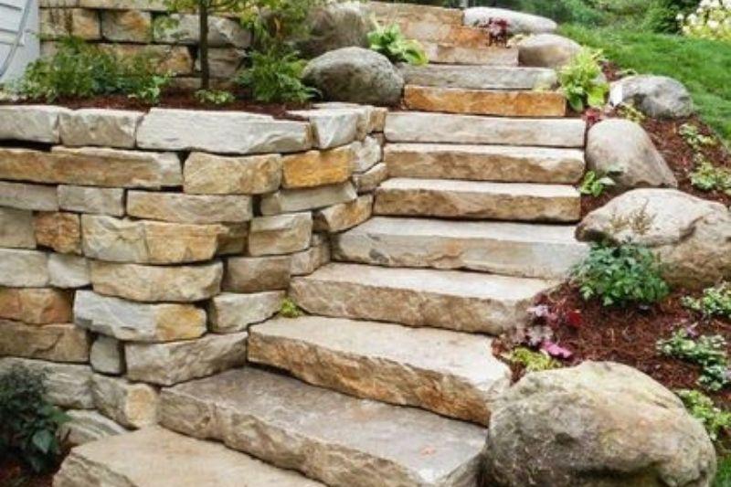 Escadarias Em Jardins Com Pedras (4)
