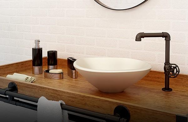 Estilo Industrial Nos Banheiros Planejados5
