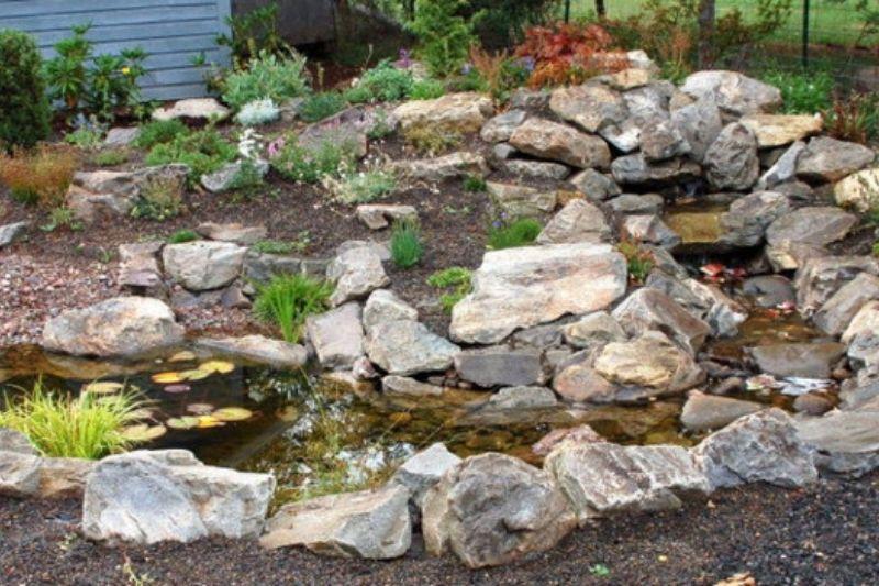 Jardim Com Pedras Grandes (1)