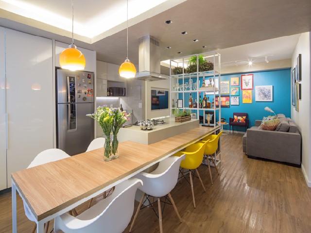 Quais Cores Utilizar em uma Cozinha com Sala Integrada?