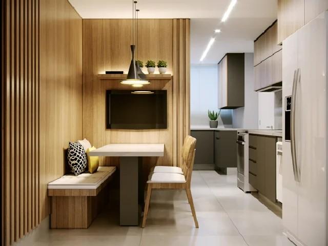 Sala E Cozinha Integradas Espaço Pequeno 2