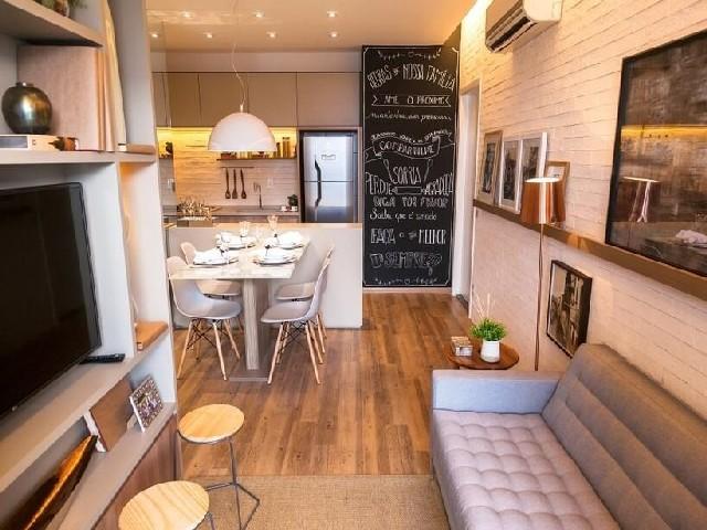 Sala E Cozinha Integradas Espaço Pequeno 3