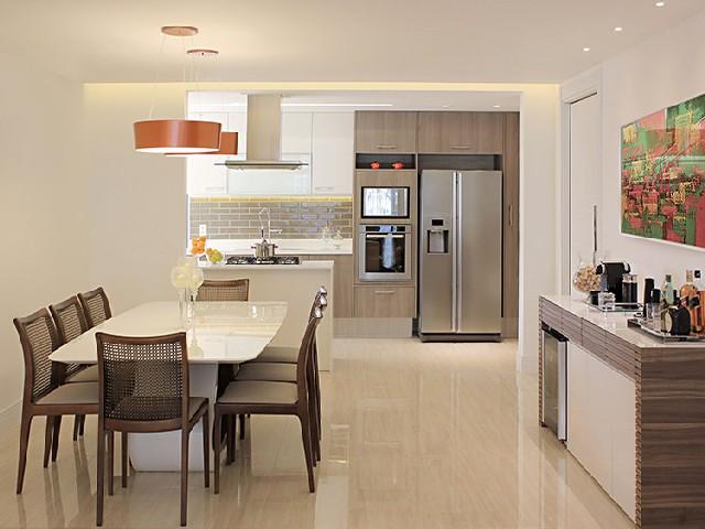 Sala E Cozinha Integradas Espaço Pequeno 5