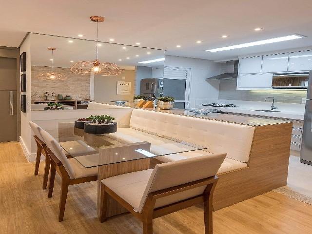 Sala E Cozinha Integradas Espaço Pequeno 6