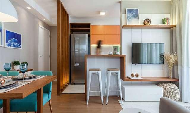 Sala e Cozinha Integradas Espaço Pequeno ► 97 FOTOS!