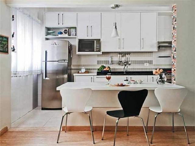 Sala E Cozinha Integradas Espaço Pequeno 7
