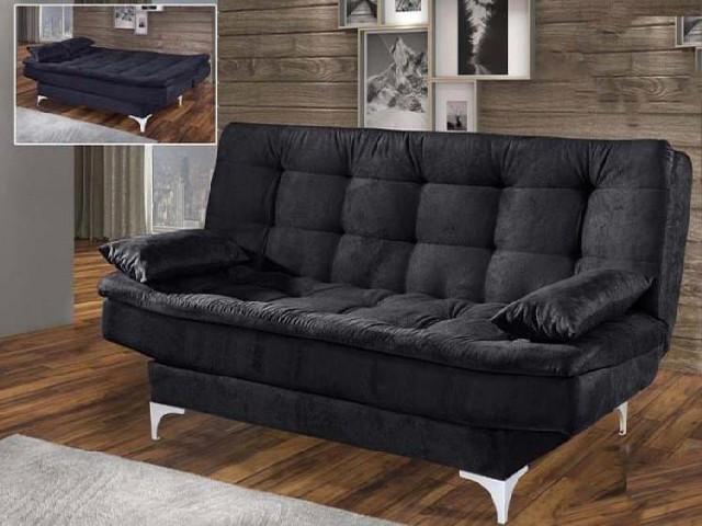 Sofa Cama Preto 3