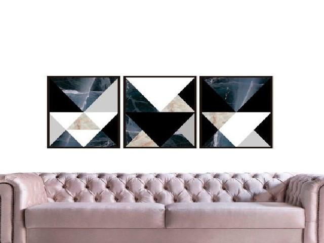 Triângulos Em Tons Contrastantes