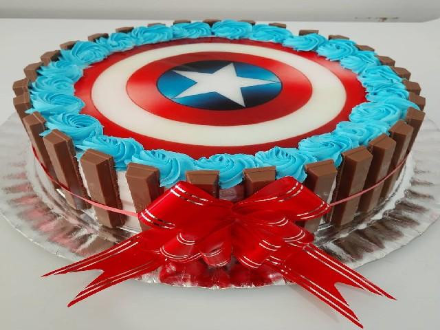 Bolos Do Capitão América Com Kit Kat