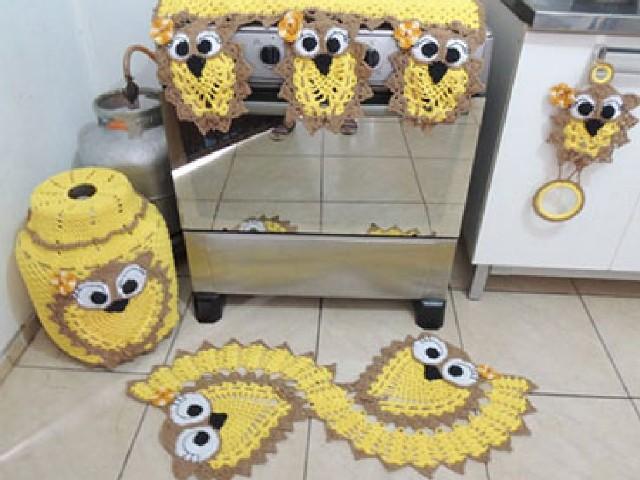 Crochês Nas Cozinhas 12