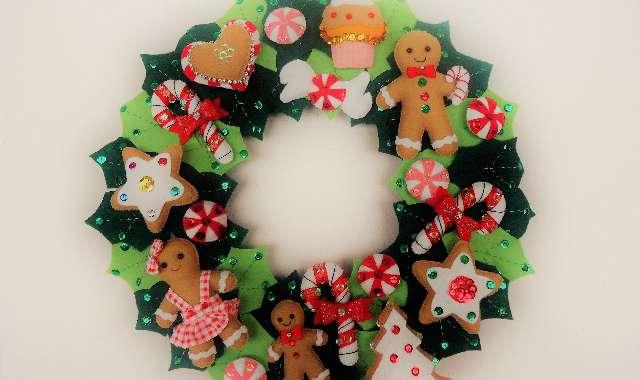 Guirlanda de Natal em Feltro – DICAS, TUTORIAL E MODELOS!
