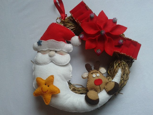 Guirlanda De Natal Em Feltro Colorida 8