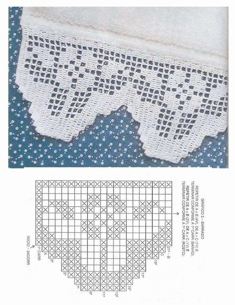 Jogo De Cozinha De Crochê Passo A Passo Com Gráficos 28