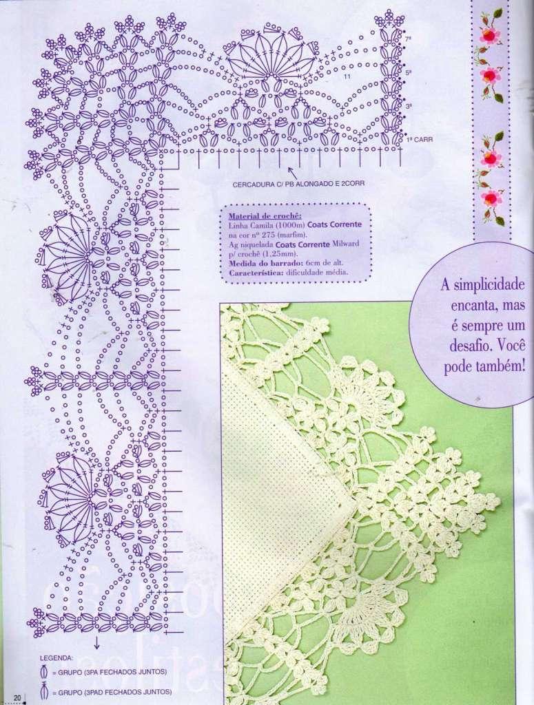 Jogo De Cozinha De Crochê Passo A Passo Com Gráficos 41