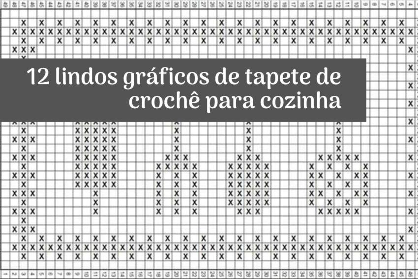Jogo De Cozinha De Crochê Passo A Passo Com Gráficos 55