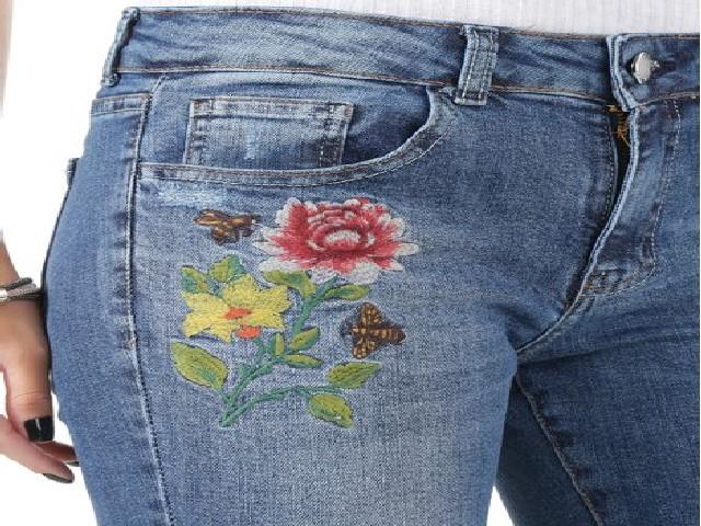 Bordar Flores Em Calça Jeans 10